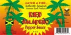 Authentic Jamaican Red Jalapeno Pepper Sauce