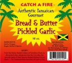 Authentic Jamaican Bread & Butter Pickled Garlic
