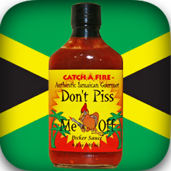 don't piss me off habanero pecker sauce from catch a fire authentic jamaican gourmet