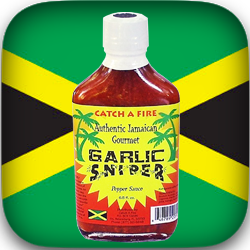 Garlic Sniper Pepper Sauce from Catch a Fire Authentic Jamaican Gourmet