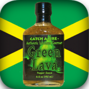 green lava pepper sauce from catch a fire jamaican gourmet