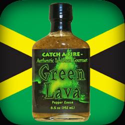 green lava pepper sauce from catch a fire jamaican gourmet