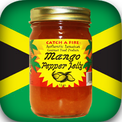 Mango Pepper Jelly from catch a fire authentic gourmet